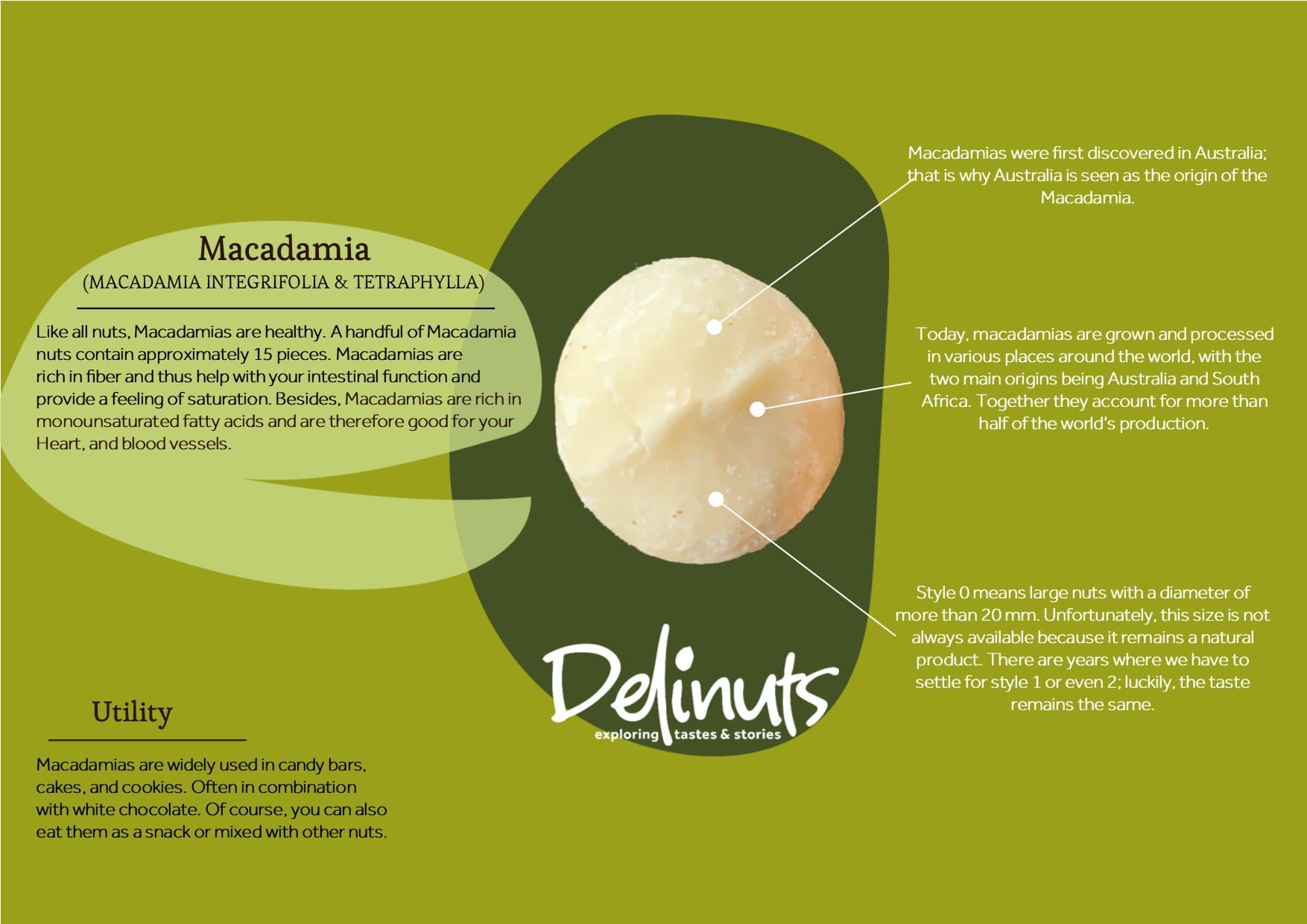 Macadamia with information